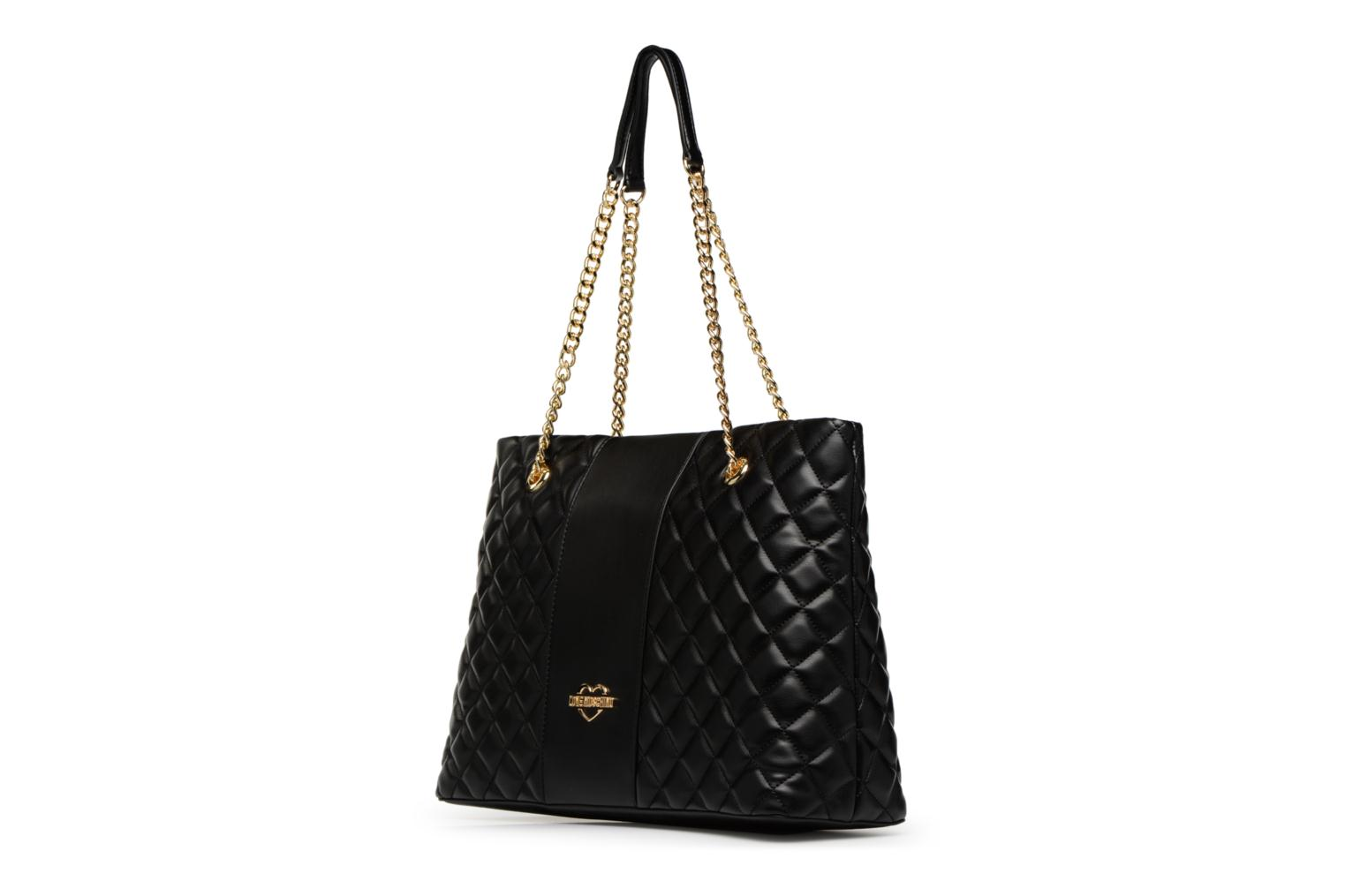 Super Moschino BLACK 0000 Love Cabas Quilted 80EwEqn1