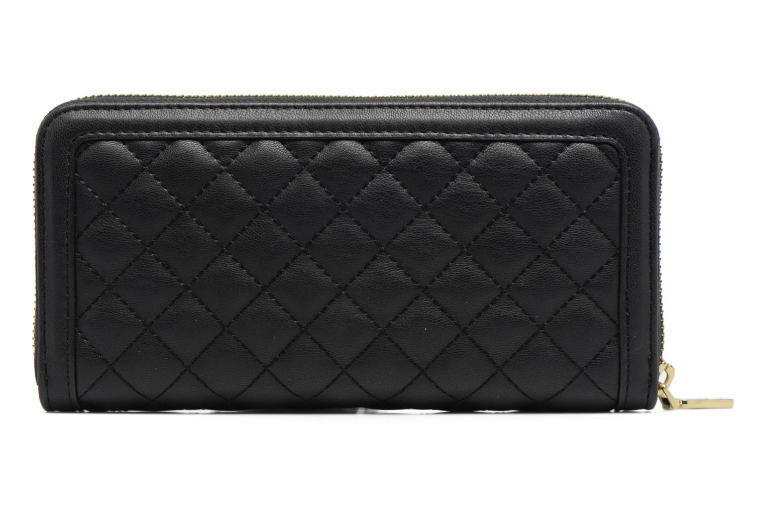 Petite Maroquinerie Love Moschino Portefeuille L Zip Around Quilted Noir vue face
