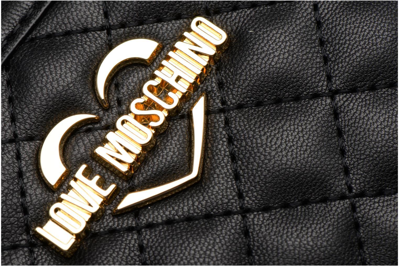Petite Maroquinerie Love Moschino Portefeuille L Zip Around Quilted Noir vue gauche