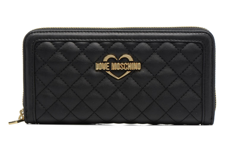 Petite Maroquinerie Love Moschino Portefeuille L Zip Around Quilted Noir vue détail/paire