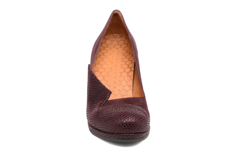 Escarpins Chie Mihara Varda 31 Bordeaux vue portées chaussures