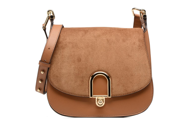 Bolsos de mano Michael Michael Kors Delfina LG Saddle Bag Marrón vista de detalle / par