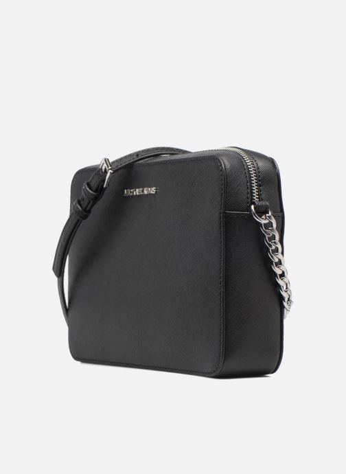 Handtaschen Michael Michael Kors LG EW Crossbody schwarz schuhe getragen