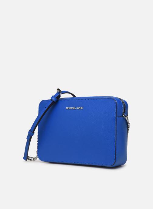Handtaschen Michael Michael Kors LG EW Crossbody blau schuhe getragen