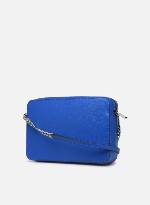 Handbags Michael Michael Kors LG EW Crossbody Blue view from the right