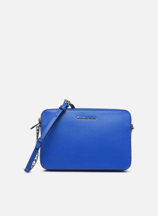 Bolsos de mano Michael Michael Kors LG EW Crossbody Azul vista de detalle / par
