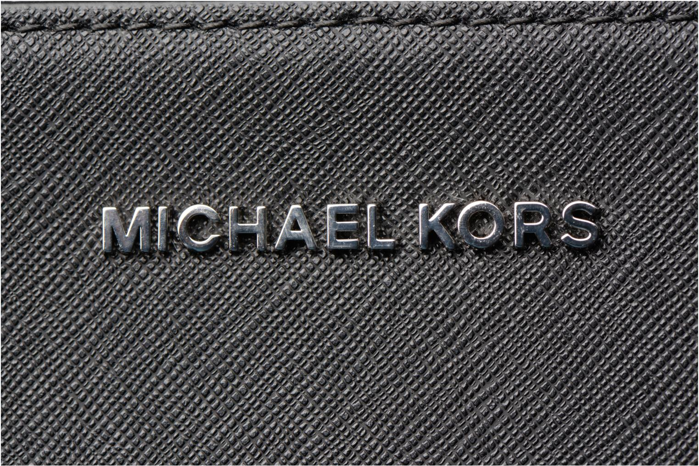 Bolsos de mano Michael Michael Kors LG EW Crossbody Negro vista lateral izquierda