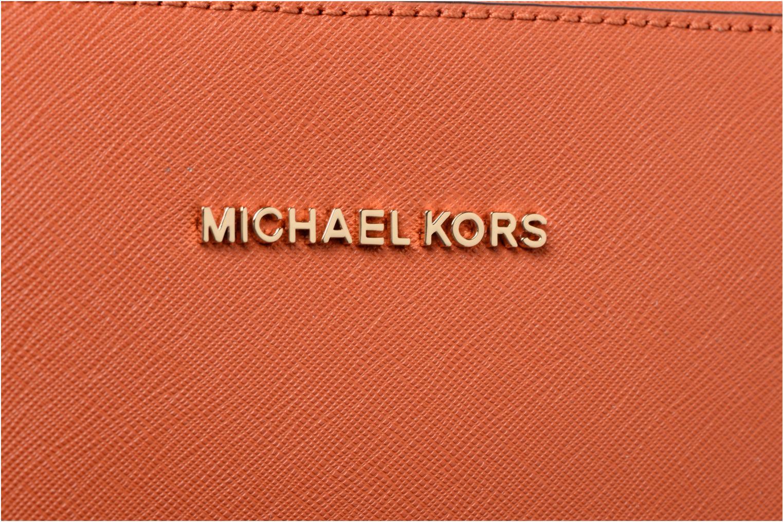 Bolsos de mano Michael Michael Kors LG EW Crossbody Naranja vista lateral izquierda