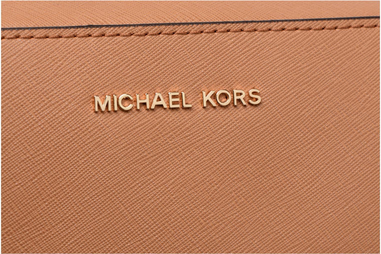 Bolsos de mano Michael Michael Kors LG EW Crossbody Marrón vistra trasera