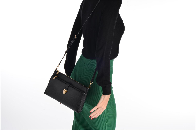 Bolsos de mano Michael Michael Kors LG Snap Pocket X body Negro vista de arriba