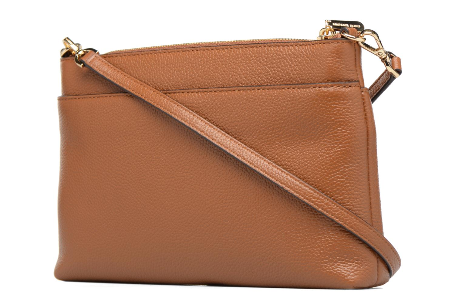 Bolsos de mano Michael Michael Kors LG Snap Pocket X body Marrón vista lateral derecha