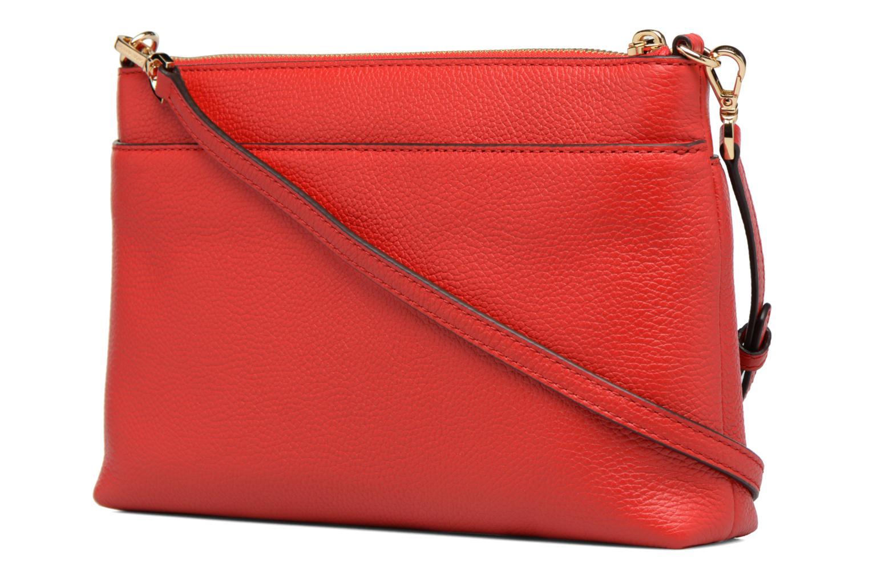 Sacs à main Michael Michael Kors LG Snap Pocket X body Rouge vue droite