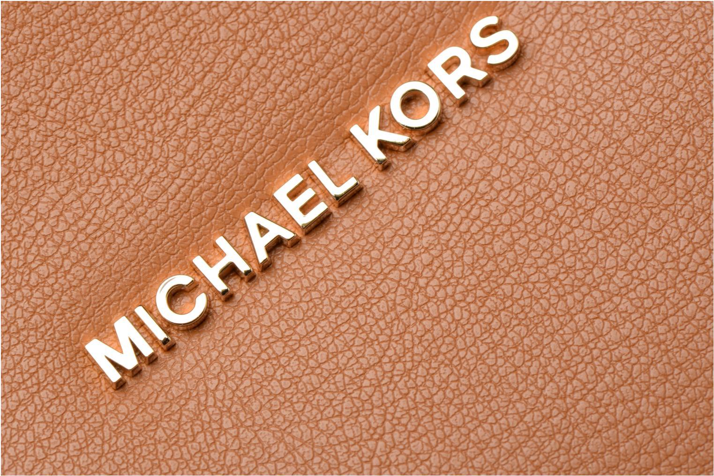 Bolsos de mano Michael Michael Kors Rivingtonstud LG Tote Marrón vista lateral izquierda