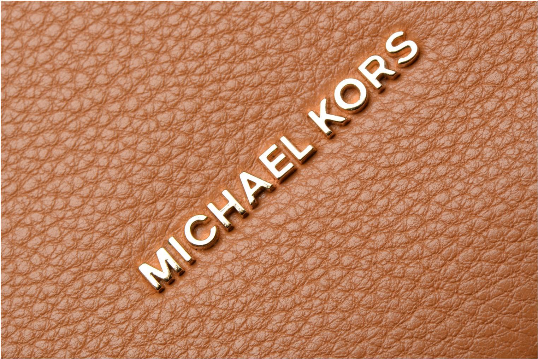 Bolsos de mano Michael Michael Kors Lupita LG Hobo Marrón vista lateral izquierda