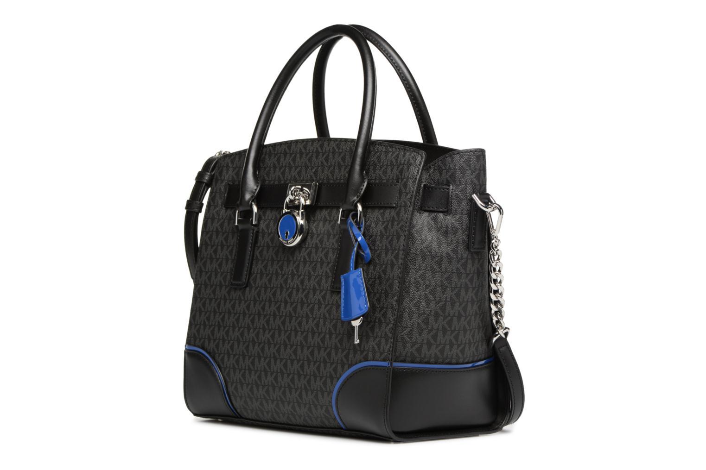 Borse Michael Michael Kors Hamilton LG EW Stachel Nero modello indossato