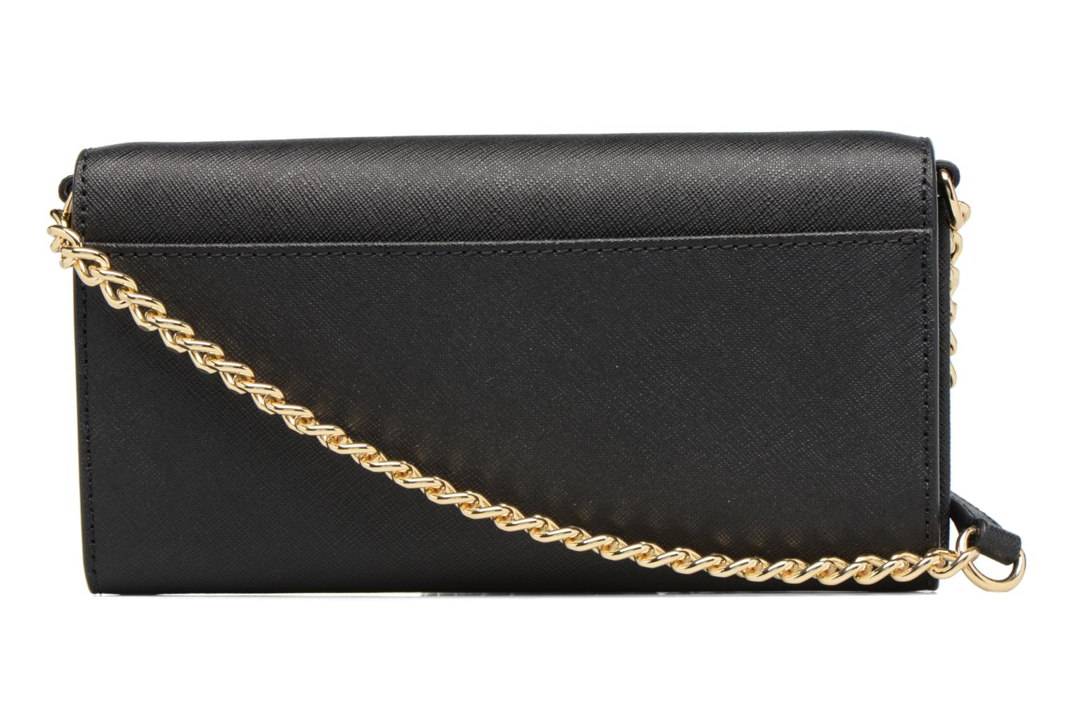 Bolsos de mano Michael Michael Kors Jet Set Wallet on a chain Negro vista de frente