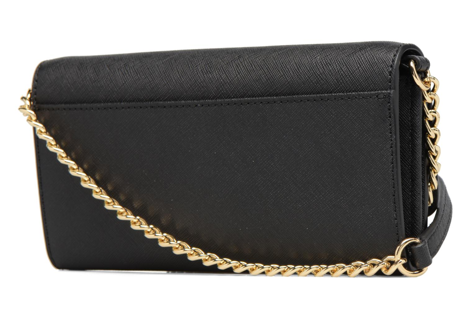 Bolsos de mano Michael Michael Kors Jet Set Wallet on a chain Negro vista lateral derecha