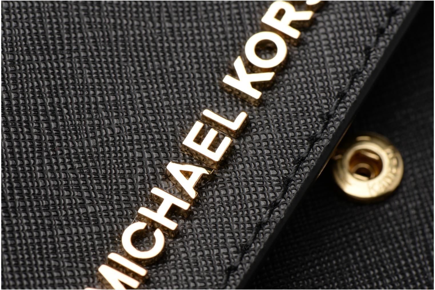 Bolsos de mano Michael Michael Kors Jet Set Wallet on a chain Negro vista lateral izquierda