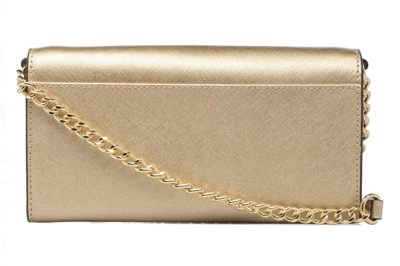 Bolsos de mano Michael Michael Kors Jet Set Wallet on a chain Oro y bronce vista de frente