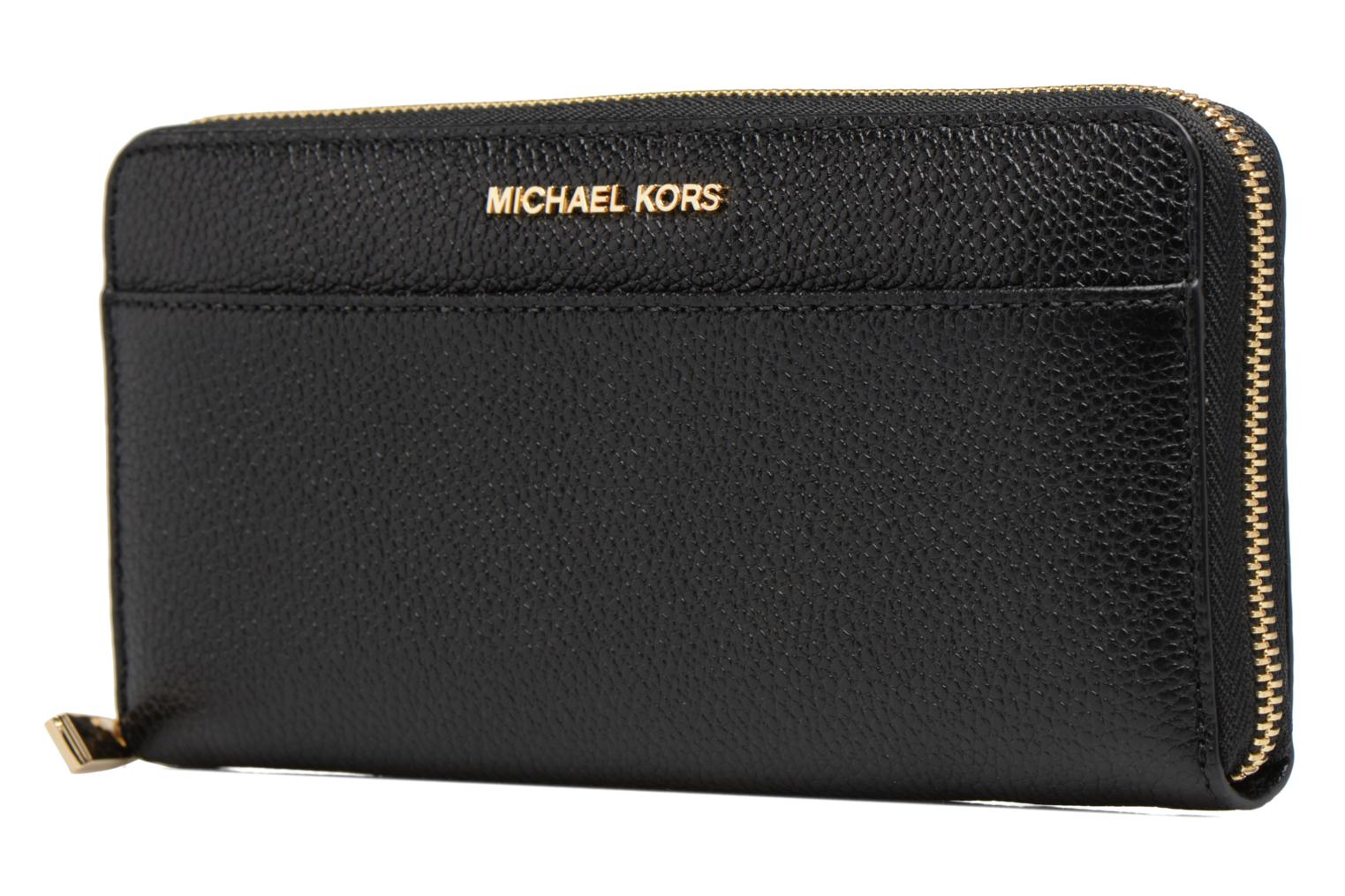 Kleine lederwaren Michael Michael Kors Mercer Pocket ZA Continental Zwart model