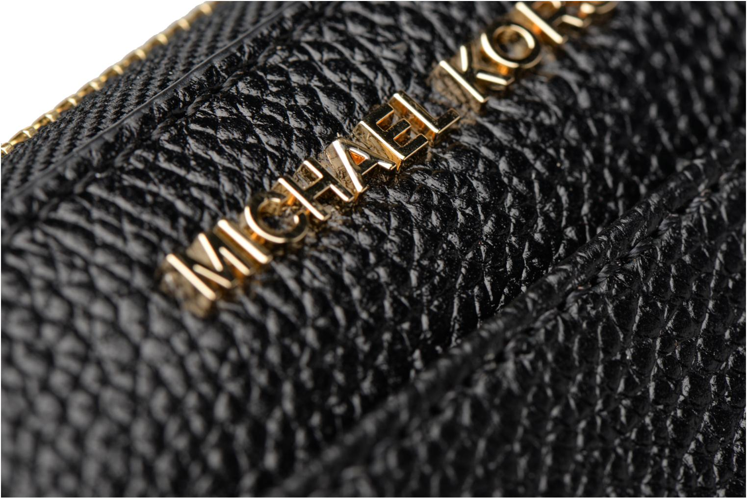 Kleine lederwaren Michael Michael Kors Mercer Pocket ZA Continental Zwart links
