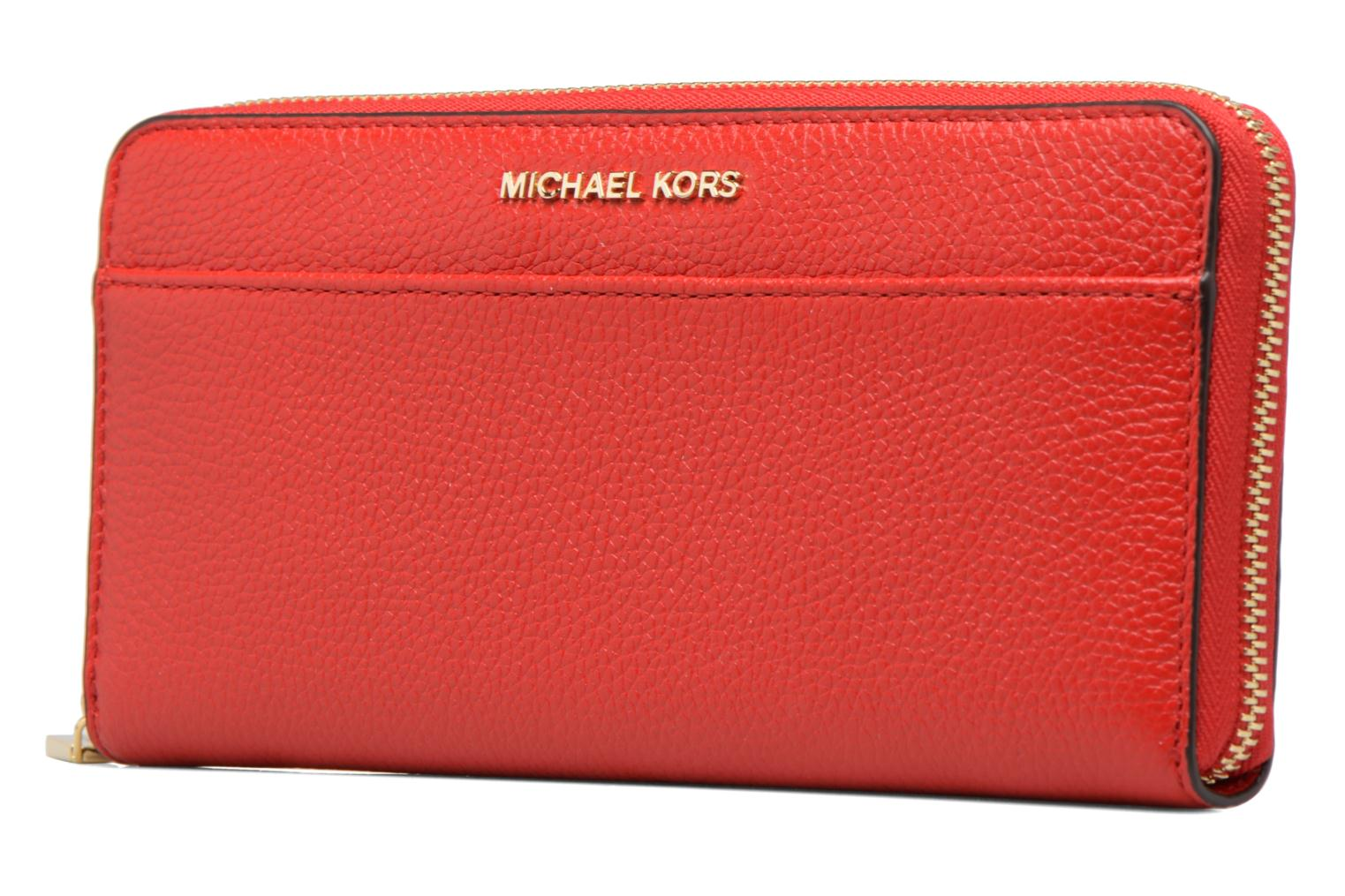 Kleine lederwaren Michael Michael Kors Mercer Pocket ZA Continental Rood model