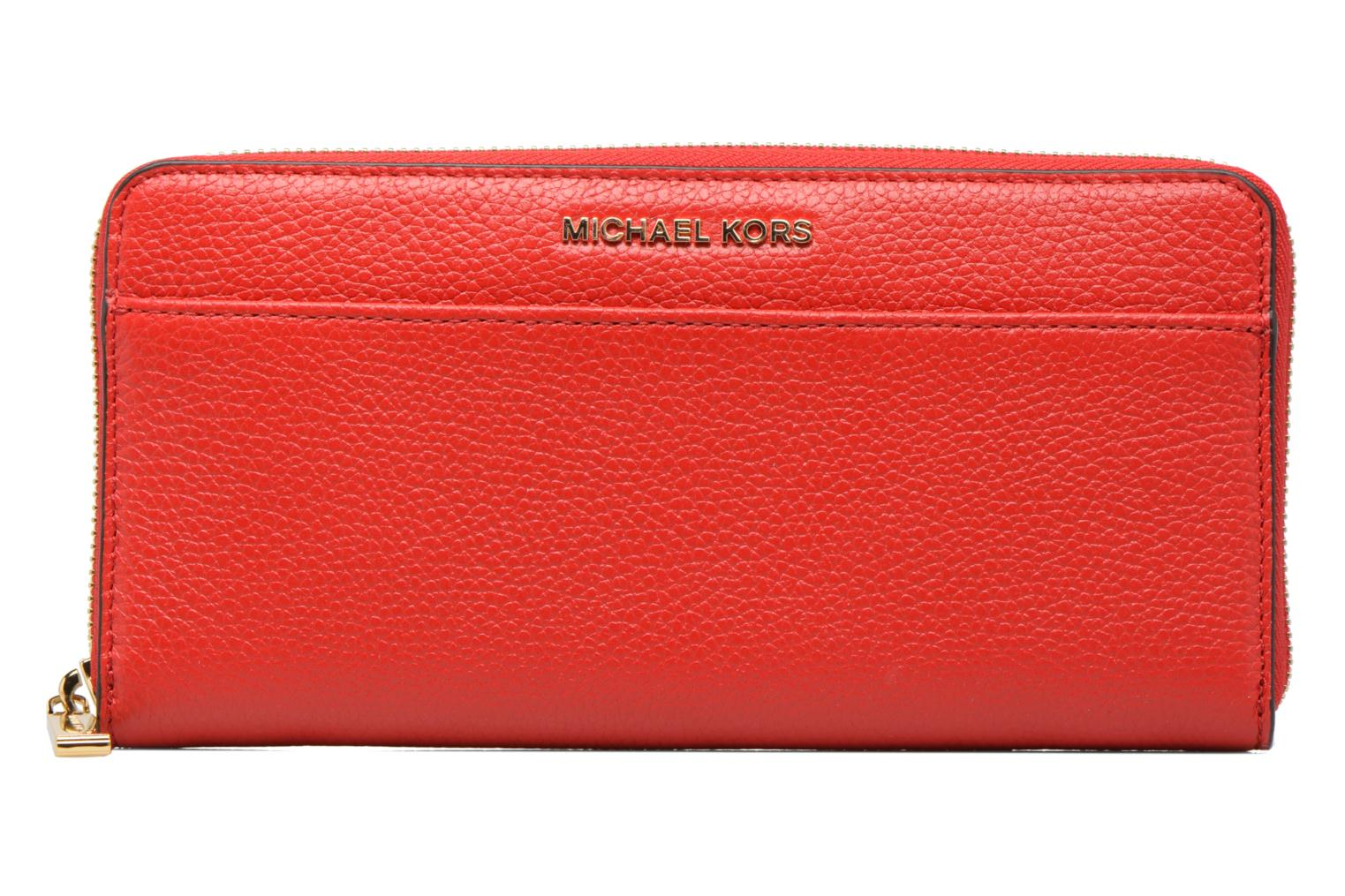 Kleine lederwaren Michael Michael Kors Mercer Pocket ZA Continental Rood detail