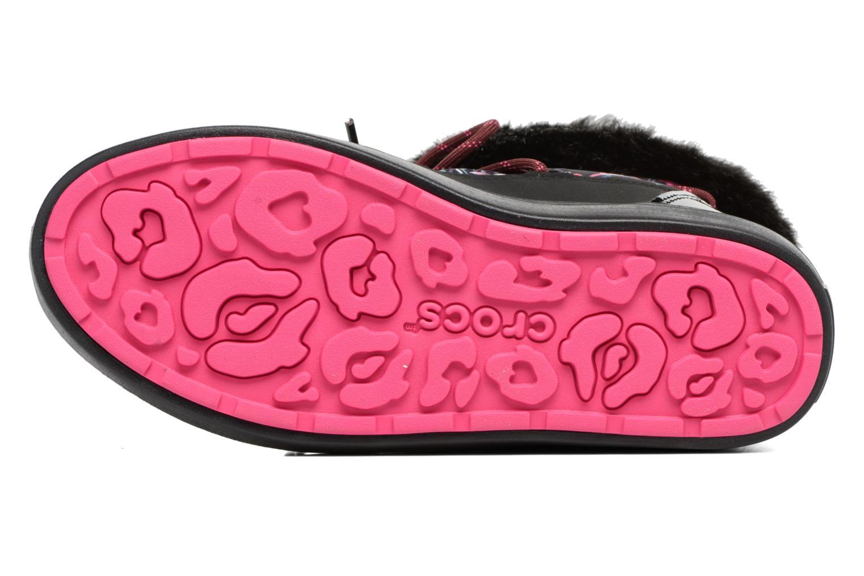 Bottes Crocs LodgePoint Graphic Lace Boot W Noir vue haut