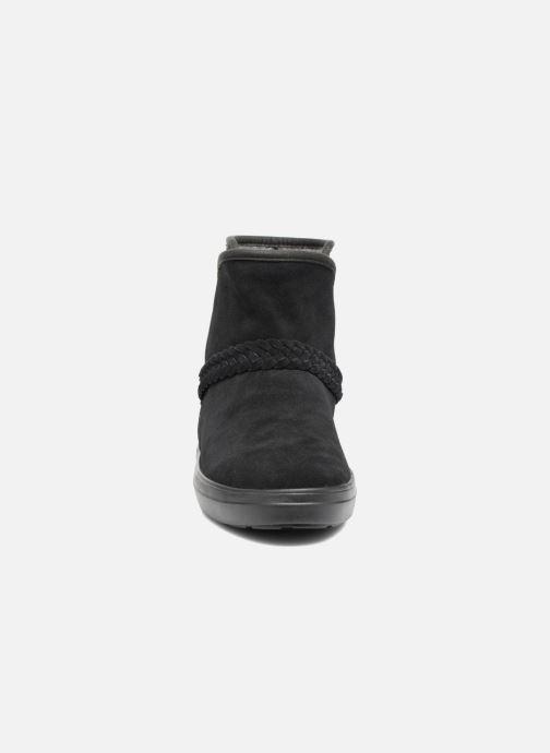 Bottines et boots Crocs Lodge Point Suede Bootie W Noir vue portées chaussures