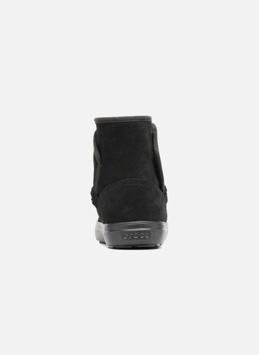Bottines et boots Crocs Lodge Point Suede Bootie W Noir vue droite