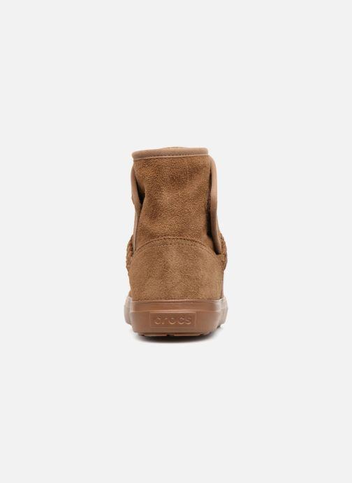 Bottines et boots Crocs Lodge Point Suede Bootie W Marron vue droite