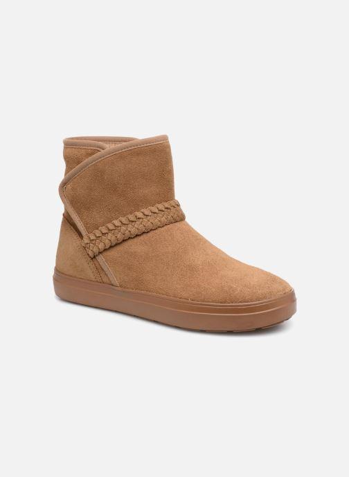 Bottines et boots Crocs Lodge Point Suede Bootie W Marron vue détail/paire