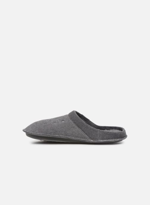 Hausschuhe Crocs Classic Slipper grau ansicht von vorne