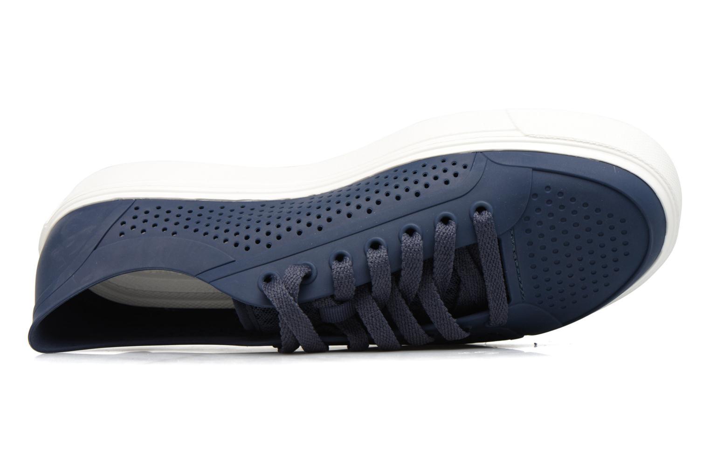 Baskets Crocs Citilane Roka Court Bleu vue gauche