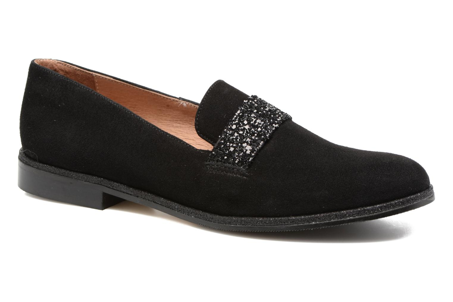 Loafers Georgia Rose ESTELLA Black detailed view/ Pair view
