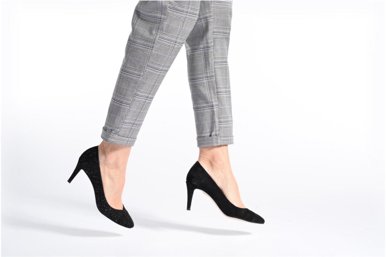 High heels Georgia Rose ECLAT Black view from underneath / model view