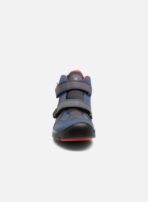Scarpe sportive Keen Hikeport Mid Strap Azzurro modello indossato