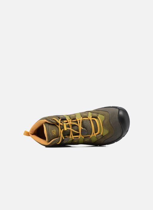 Zapatillas de deporte Keen Hikeport Mid youth Verde vista lateral izquierda