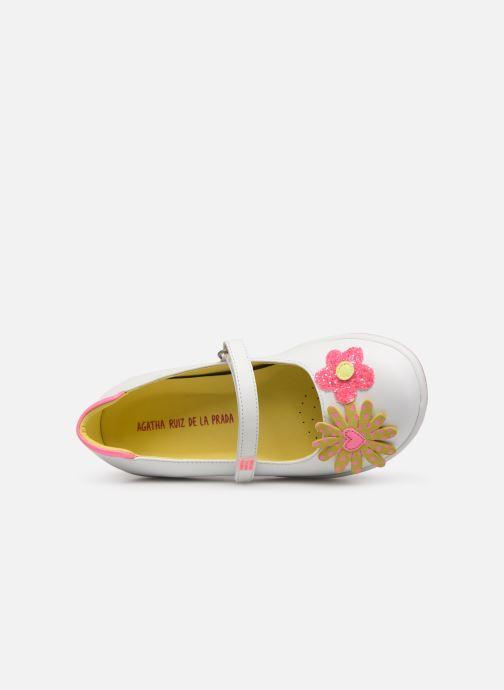 Sneaker Agatha Ruiz de la Prada Butterfly weiß ansicht von links