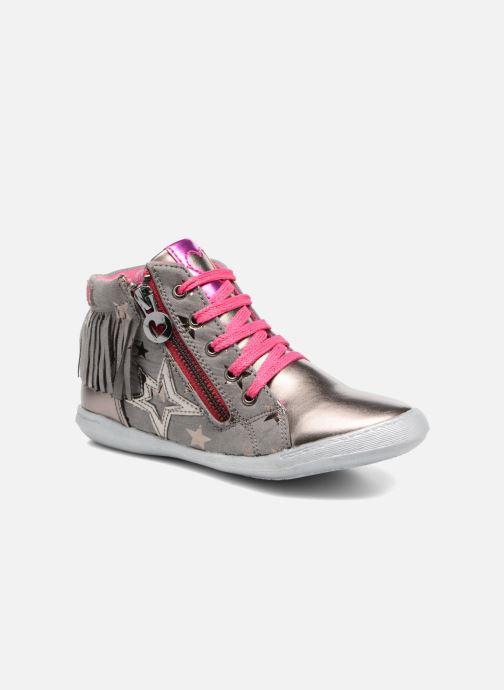Baskets Agatha Ruiz de la Prada Clever Mid 3 Argent vue détail/paire
