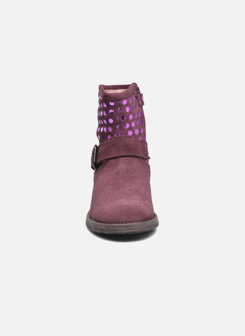 Bottines et boots Agatha Ruiz de la Prada Vagabunda Bordeaux vue portées chaussures