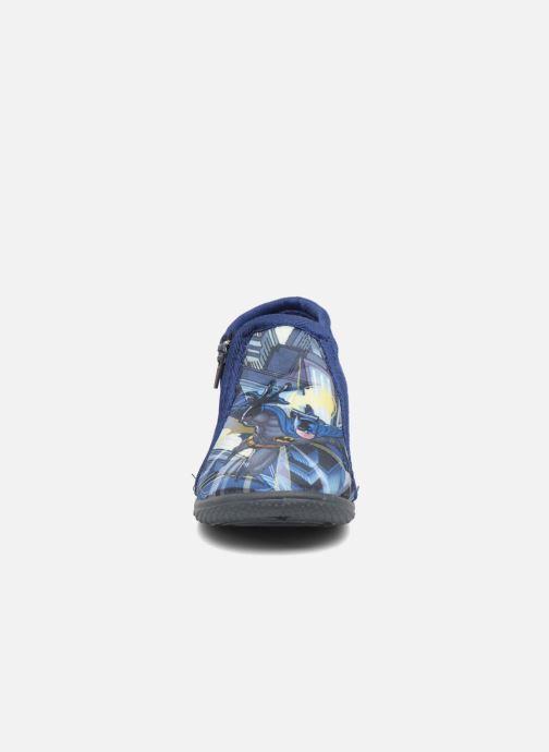 Chaussons Batman Bat Bolby Bleu vue portées chaussures