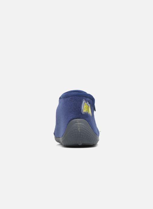 Pantuflas Batman Bat Bolby Azul vista lateral derecha
