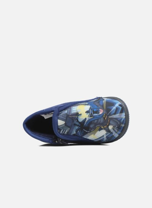 Pantuflas Batman Bat Bolby Azul vista lateral izquierda