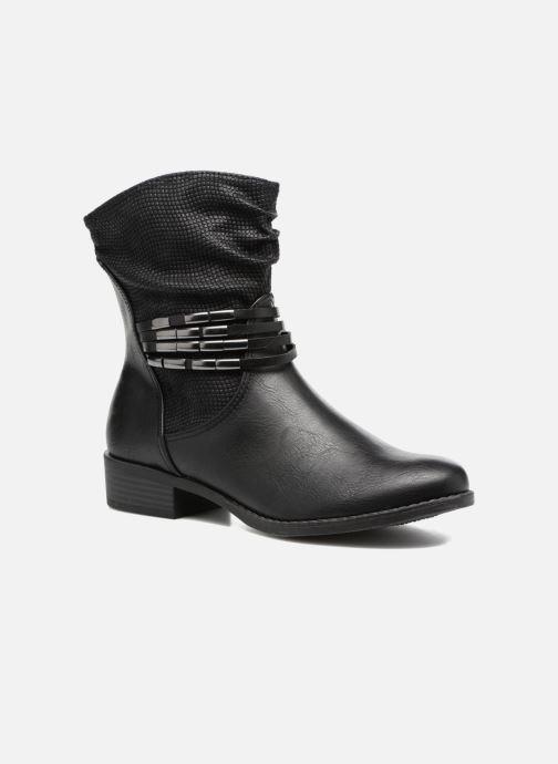 Ankelstøvler Marco Tozzi Pala Sort detaljeret billede af skoene