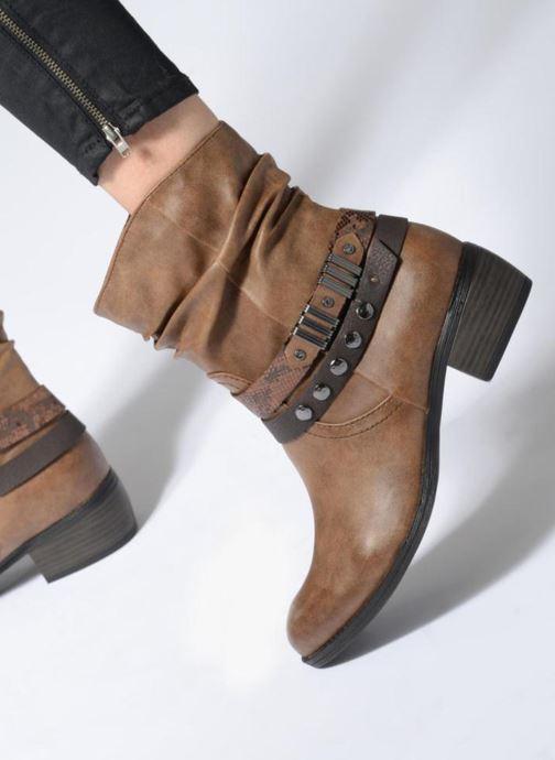 Bottines et boots Marco Tozzi Gappa Marron vue bas / vue portée sac
