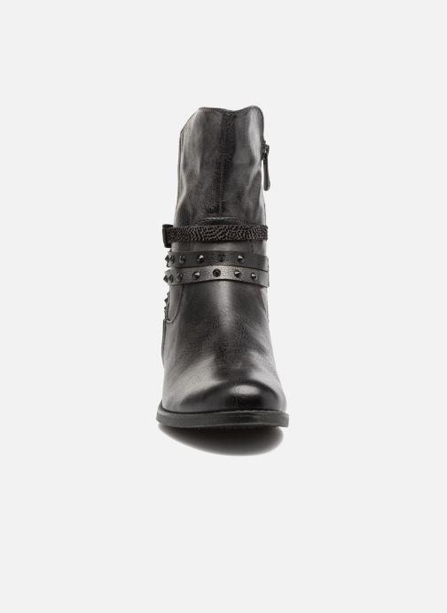 enkellaarsjes Mokka Boots model Zwart Tozzi Marco en HpFw4F