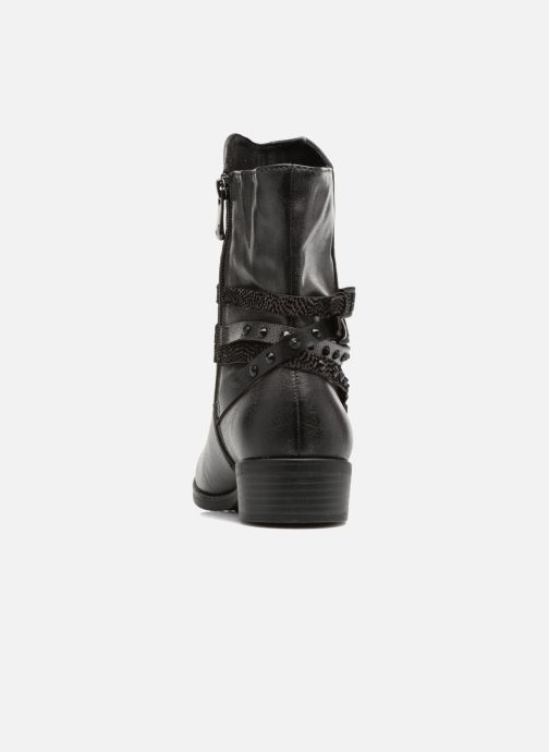 Ankle boots Marco Tozzi Mokka Black view from the right