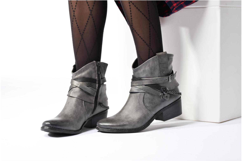 Bottines et boots Marco Tozzi Rina 2 Gris vue bas / vue portée sac