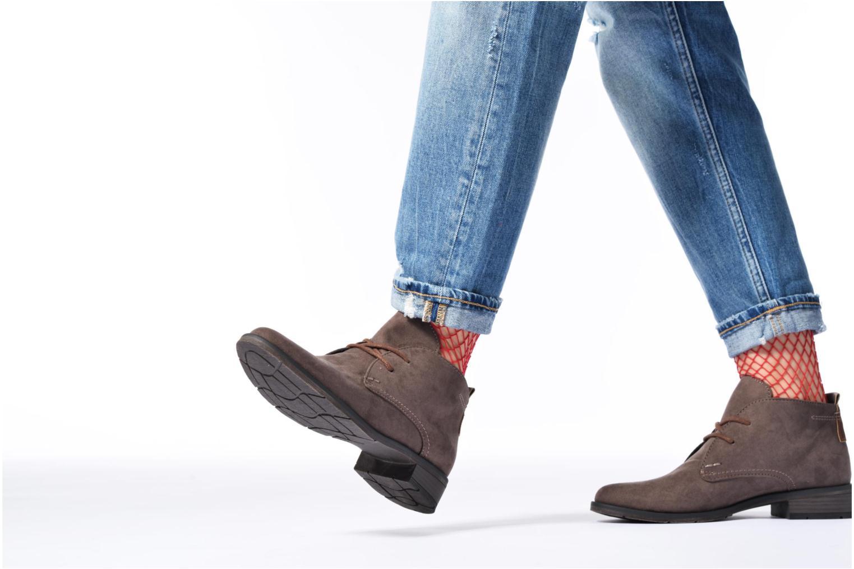 Chaussures à lacets Marco Tozzi Jina 2 Gris vue bas / vue portée sac